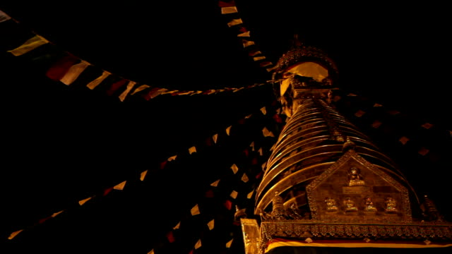 HD: Prayer Flags swaying in the wind, Swayambhunath. video