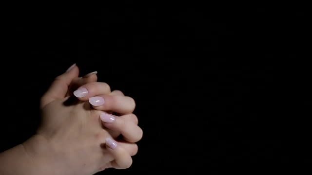 Prayer hands,close up video