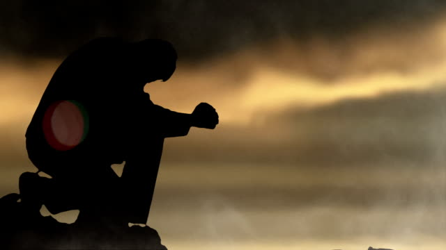 prayer on the mount - spirituality stock videos & royalty-free footage