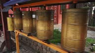 istock prayer wheels in buddhist monastery 1285421033