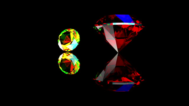 Precious gems on display video