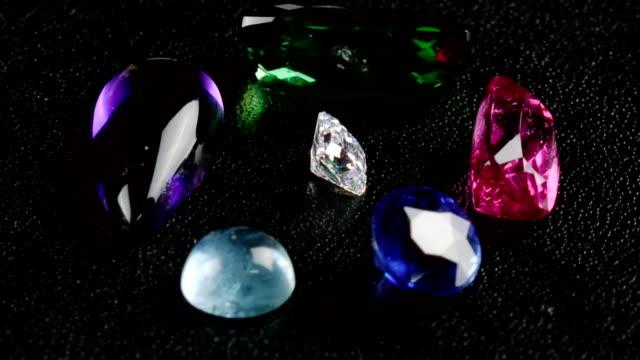Precious Gemstones Rotation Loop (HD) video
