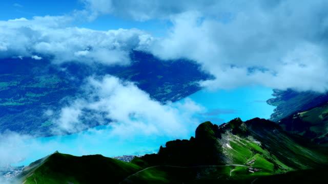 Precipitous ridge and lake in Switzerland video