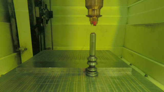 Precision cutting of metal parts using an Electrical discharge machine video