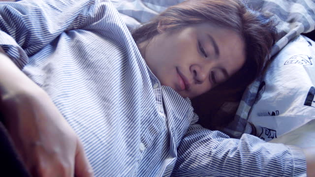 Pregnant woman sleeping video