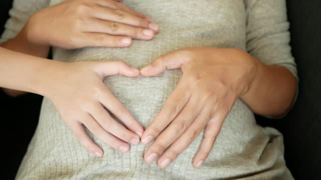 彼女の娘と妊娠中の女性 - 妊娠点の映像素材/bロール