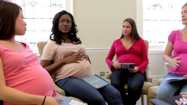 Pregnant Women Meeting At Ante Natal Class video