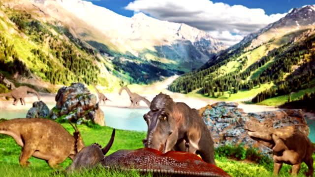 prehistorik era - tyrannosaurus rex bildbanksvideor och videomaterial från bakom kulisserna