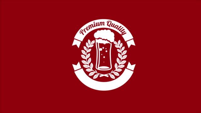 vídeos y material grabado en eventos de stock de calidad premium de cerveza, vídeo de animación - eventos de etiqueta