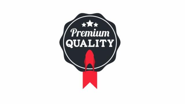 vídeos de stock e filmes b-roll de de qualidade premium - badge