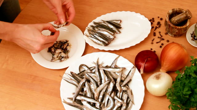 preparation of anchovies