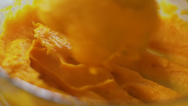 preparation of pumpkin сream - pumpkin stock videos & royalty-free footage