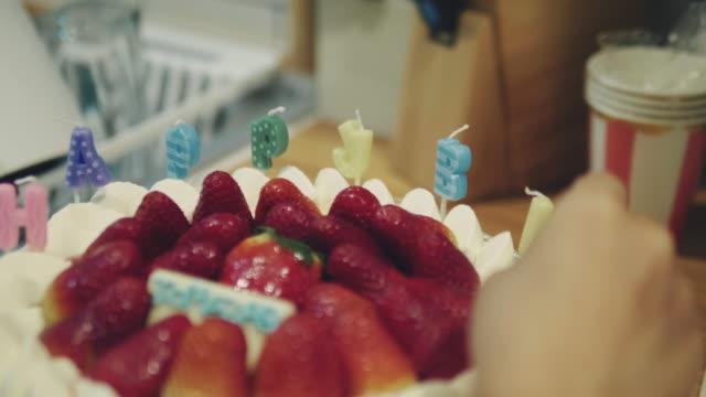 Preparing a Birthday Cake