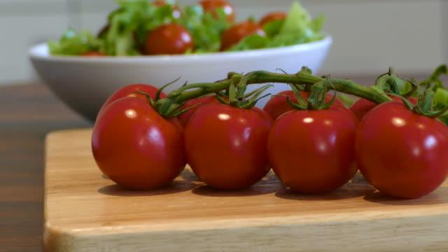 Preparing a fresh salad video