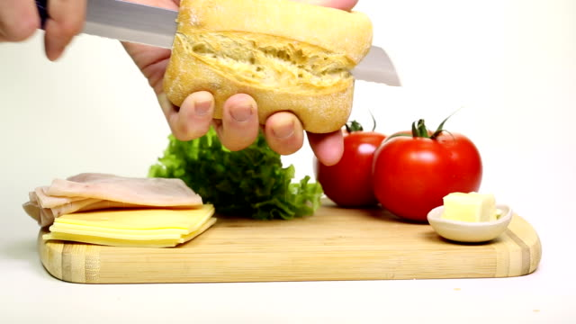 Préparer un sandwich - Vidéo
