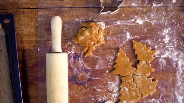 Preparing Christmas Cookies in Domestic Kitchen Preparing gingerbread man Christmas Cookies in domestic kitchen gingerbread man stock videos & royalty-free footage