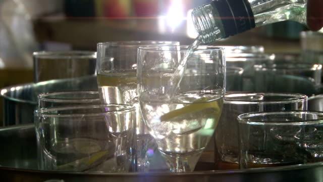 Preparing drinks for reception video