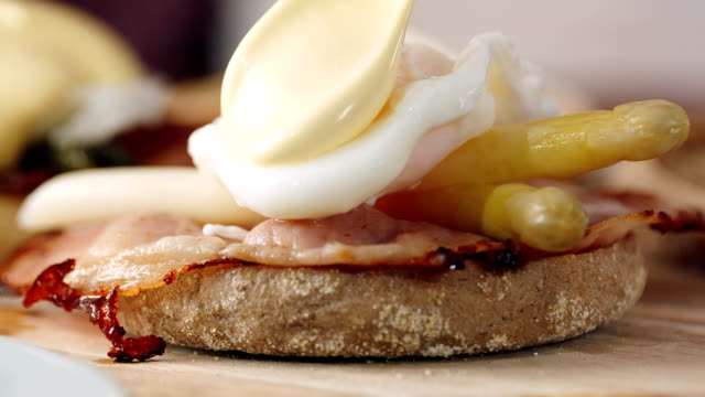 Preparing Egg Benedict For Breakfast video