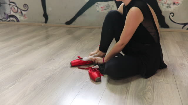 Preparing for ballet class video