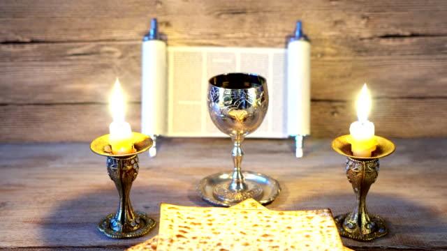 Preparing for Shabbat: matzot,grape juice video
