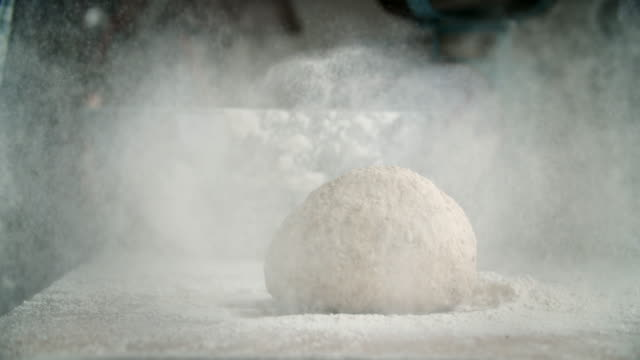 preparing fresh healthy bread - impasto video stock e b–roll