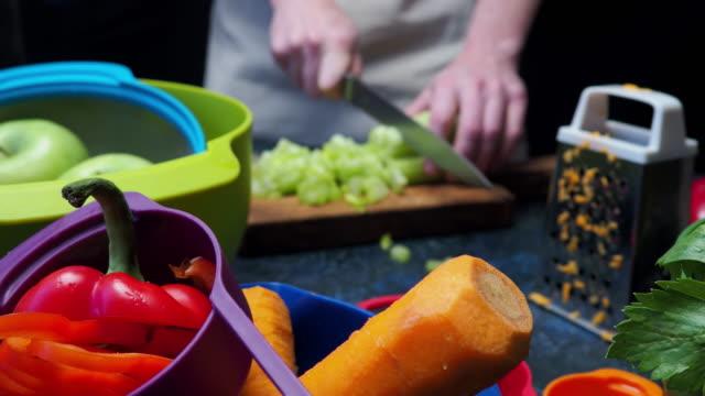 Preparing fresh vegetable video