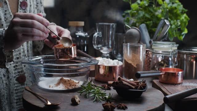 Preparing homemade hot chocolate
