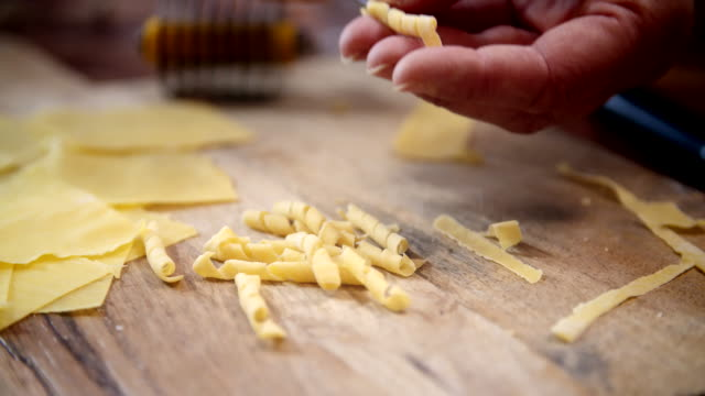 preparing homemade pasta - italian food stock videos & royalty-free footage