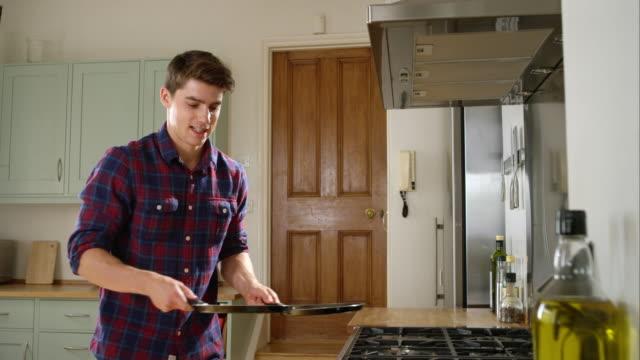 preparing lunch - pancake video stock e b–roll
