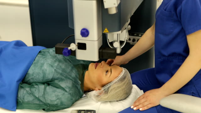 Preparing patient for laser eye surgery video