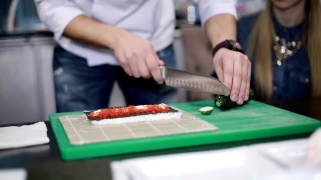 Preparing Sushi Set video