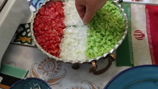 Preparing Traditional Iranian meal video