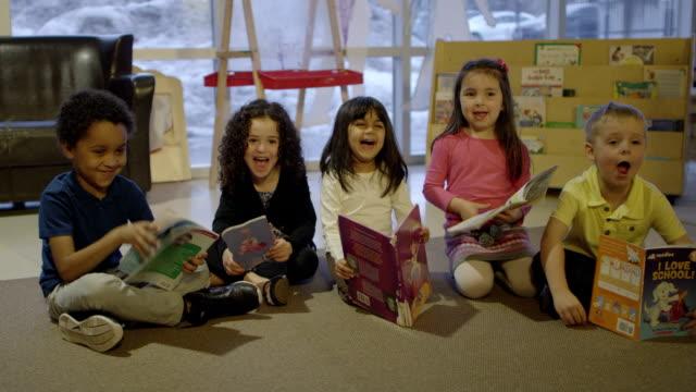 Preschool Children with Books video
