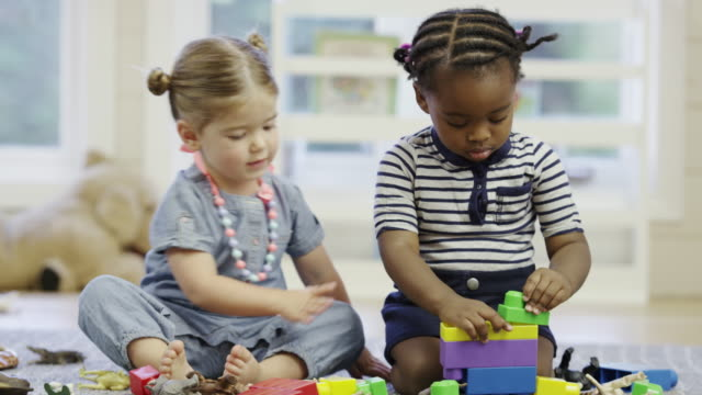 Preschool daycare centre with children video