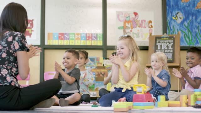 Video Preschool Students in Daycare