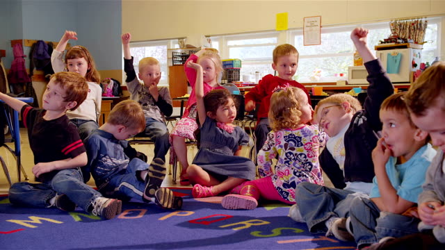 preschool students sing song - preschool stock videos and b-roll footage