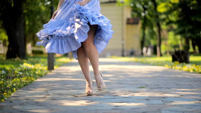 i present to you my new dress - scarpe video stock e b–roll