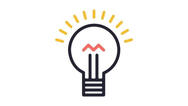 stockvideo's en b-roll-footage met presentatie ideeën lijn pictogram animatie met alpha - marketing planning