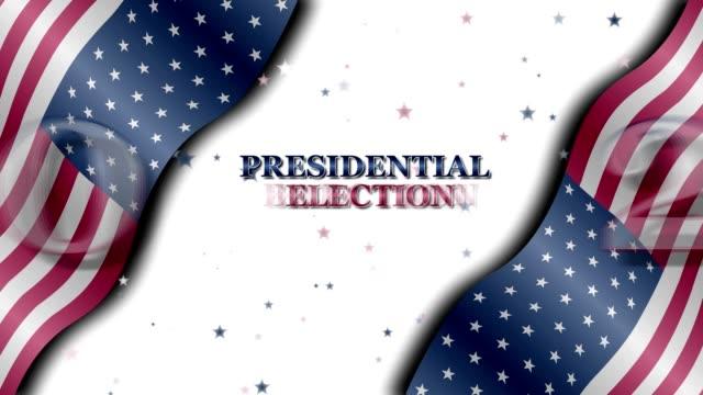 präsidentschaftswahl 2020 - spruchband stock-videos und b-roll-filmmaterial