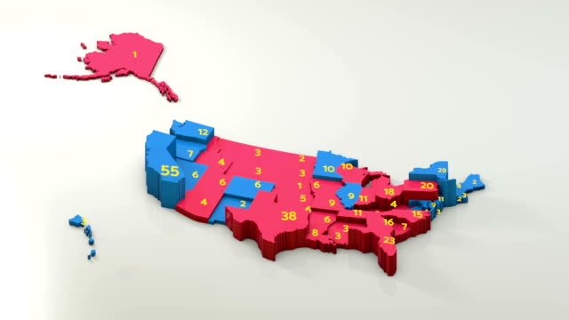 us presidential election results 2016 map by state, republicans and democrats - politica e governo video stock e b–roll