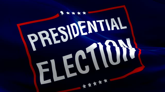 flaga wyborów prezydenckich w usa 2020 macha flagą na wybory prezydenckie w usa. stany zjednoczone 3d flaga białego domu macha. us vote bezproblemowa animacja. tło wideo białego domu. wybory w stanach zjednoczonych - white house filmów i materiałów b-roll