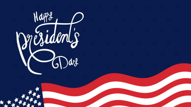 presidents day lettering with usa flag video