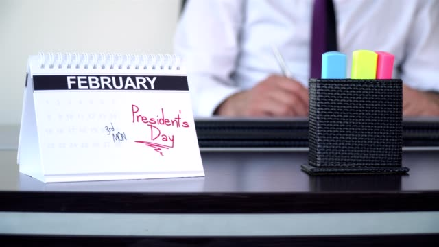 presidentens dag - speciella dagar - calendar workout bildbanksvideor och videomaterial från bakom kulisserna