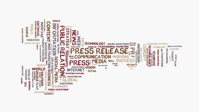 press release word cloud