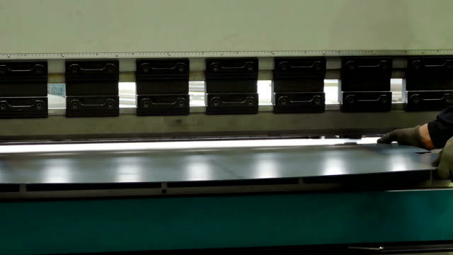 Pressing and Bending Sheets in Heavy Industry video