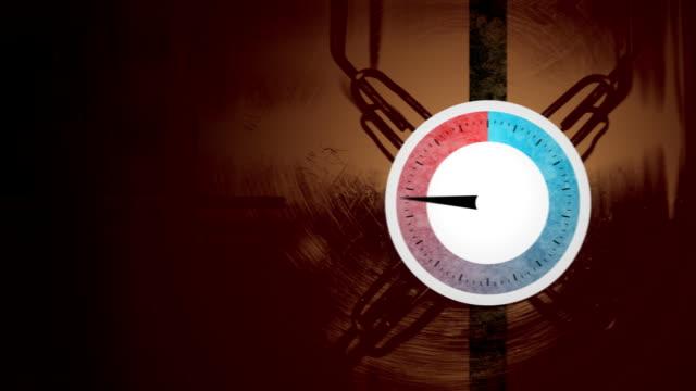Pressure dial rising and falling video