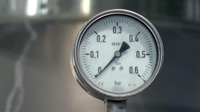 Pressure gauge in factory video