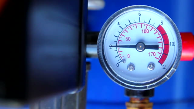 Pressure gauge in factory