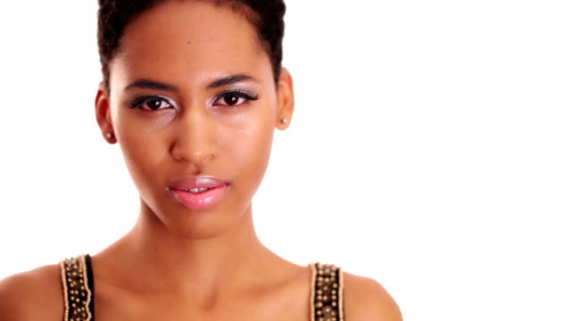 Pretty african woman with nice smile Pretty african woman with nice smile lip liner stock videos & royalty-free footage