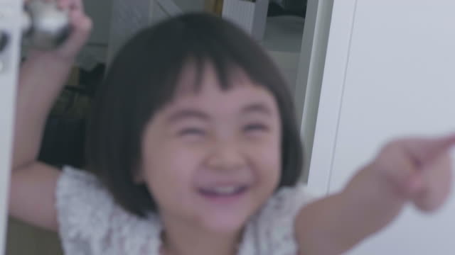 Pretty Asian Playing in White Room video